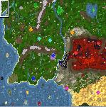 "The surface of the map ""L O T R The War Of The Ring"""
