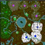 """Поверхность карты """"Pestilence Lake"""""""