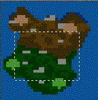 "Поверхность карты ""Necropolis vs. Castle"""