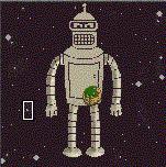 "Поверхность карты ""Bender - The Asteroid War"""