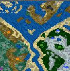 "Поверхность карты ""West Orient & Underground Cave"""