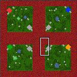 """Поверхность карты """"Four Squares"""""""