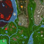 "Поверхность карты ""On a Necromancer Trail"""