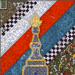 "The surface of the map ""Honor of non chess queen"""