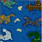 "The surface of the map ""Пролив Ветров"""