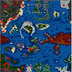 """Поверхность карты """"В поисках голубых гор 1.2.3"""""""