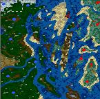 "The surface of the map ""Антипиратская кампания"""