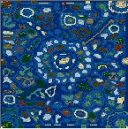 "The surface of the map ""Trillion Isle's Ultimate Edit"""
