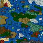 "The surface of the map ""Riddle #1 - ""Ira the mage"""""