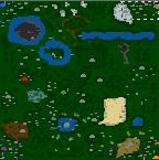 """The surface of the map """"Einmal H?lle und zur?ck"""""""