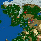 """The surface of the map """"Middle-Earth Armageddon Three"""""""
