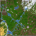 "Поверхность карты ""Unknown Lands"""