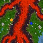 """Поверхность карты """"Eruption"""""""