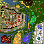 "The surface of the map ""Ancient Chaos"""