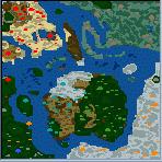"""Поверхность карты """"The war of continents"""""""