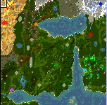 """The surface of the map """"Forgotten Realms"""""""