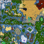 "The surface of the map ""Dancing Crusader"""