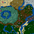 "The surface of the map ""Fantasy - Heroes III Forever"""