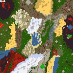 "The surface of the map ""Treasure Land"""