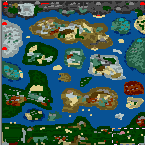 """The surface of the map """"A Dragon Adventure"""""""