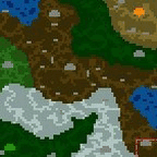 "The surface of the map ""Эльфы под топором"""
