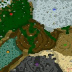 "The surface of the map ""World Without Artifacts"""