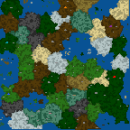 "The surface of the map ""Игра Престолов"""