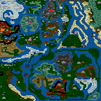 "The surface of the map ""Asgard - Legasy of the Gods"""