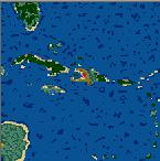"Поверхность карты ""Carribean sea"""