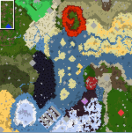 "The surface of the map ""Battle for Treasure"""