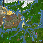 """The surface of the map """"Rivers End"""""""